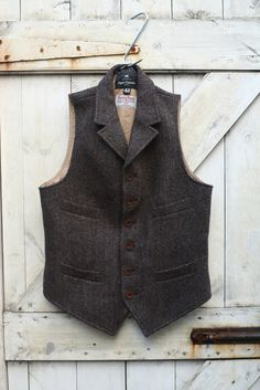 Harris Tweed vest with all the right details - Nigel Cabourn