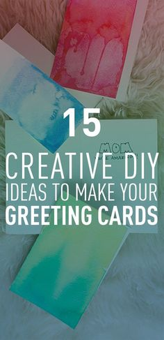 Greeting cards can be great for any and every occasion. Whether it's a Birthday, Thanksgiving or Christmas, greeting cards would always be appreciated by the recipient. Like any other gift, greeting cards have a space for creativity, and would always be more appreciated if you created them yourself rather than getting ready-made cards. Take a look at these creative ideas to get you started making your first greeting card.