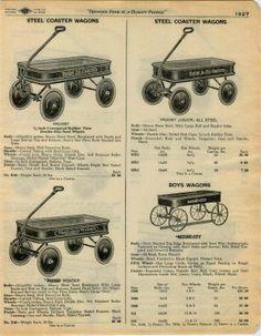 1929 Ad Wood Coaster Wagon Rugby Mound