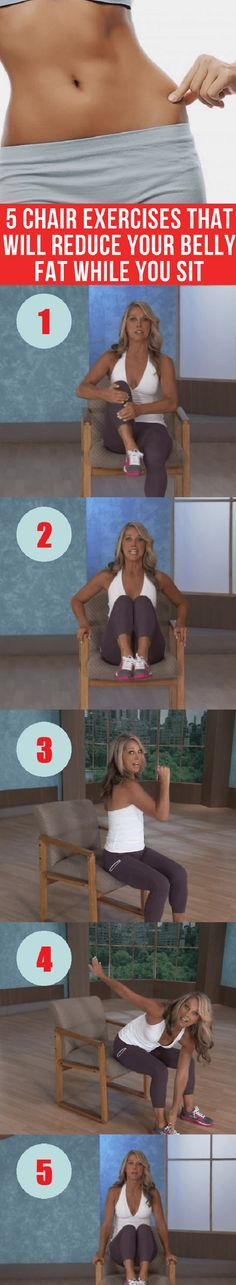 If your job requires sitting on a chair in your office eight hours a day, it's time for you to shorten up that time with these exercises. #chair #exercise #belly