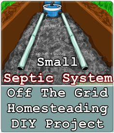 Septic System Off The Grid Homesteading DIY Project – The Homestead Survival – Diy Home Off Grid Survival, Survival Prepping, Emergency Preparedness, Survival Skills, Survival Gear, Survival Quotes, Survival School, Apocalypse Survival, Survival Shelter