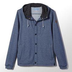 Adidas Silas snap fron hoodie vista blue