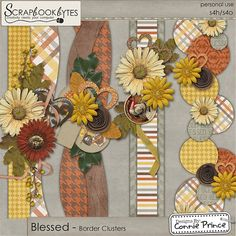 Blessed - Border Clusters :: Page Edges :: Embellishments :: SCRAPBOOK-BYTES