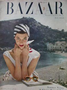 Vintage Harper's Bazaar with resort wear.
