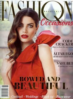 Our lovely one shouldered taffeta Matthew Eager gown on the cover of Fashion Quarterly