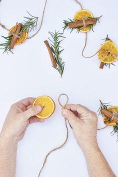 DIY Orange Garland: Homemade Holiday Series