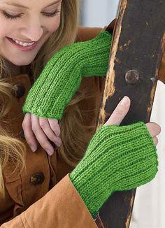 Free knitting pattern for easy Lovely Glovelets fingerless mitts