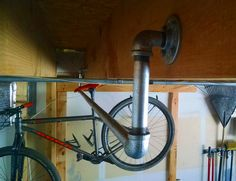 DIY: How to Build a Hanging Bike Rack | Singletracks Mountain Bike News