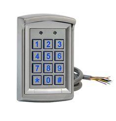 Clavier à code 1010 utilisateurs 2 relais 12/24V AC/DC  Référence produit : K1000