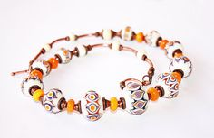 Necklace  Lace  Copper and Handmade Lampwork Beads by britanika, $220.00