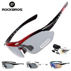adbe064b80 Polarized Cycling Glasses 5 Lens Clear Bike Glasses Eyewear UV400 Proof  Outdoor Sport Sunglasses Men Women