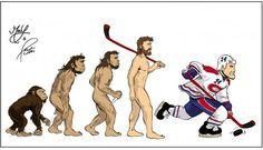 L'évolution du Tricolore / Habs evolution Montreal Canadiens, Nhl, Fan Art, Club, Humor, Gallery, Sports, Hs Sports, Humour