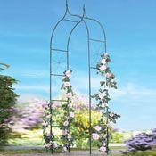 Green Metal Outdoor Garden Arched Trellis
