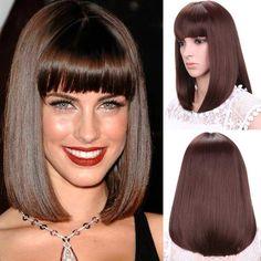 "12""Short Bob Wig for Women Synthetic Wigs for Black Women Female Cheap Bob Fake Hair Wigs Heat Resistant"
