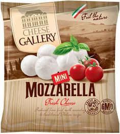 Mozzarella packaging design. Cheese Gallery.