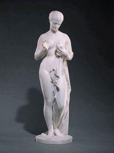 Chauncey B. Ives, Pandora c. 1863 Marble, height 95 cm Museum of Fine Arts, Boston