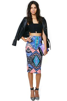 Nasty Gal Scope Out Midi Skirt