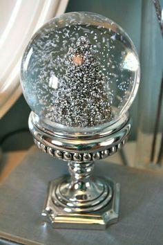 Christmas tree  -snow globe!!