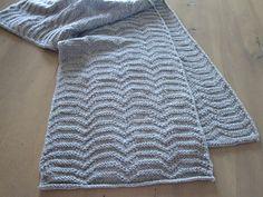 Stratocumulus Scarf, knit in Bijou Spun by Bijou Basin Ranch Sport Weight (100% Yak)
