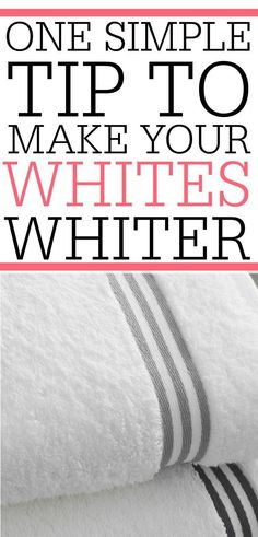 Tired of dingy white clothes and towels? Check out this simple tip to get whites white again without using bleach!