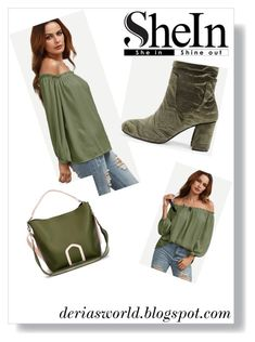 A fashion look from March 2018 featuring flounce tops, green tee and olive green boots. Browse and shop related looks. Olive Green Boots, Green Tee, Get The Look, Fashion Looks, Tees, Polyvore, Outfits, Shopping, Style