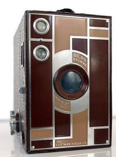 A gorgeous art deco Beau Brownie ~ designed by Walter Dorwin Teague for Kodak
