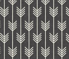 SO ADORABLE! arrows_dark_textured fabric by holli_zollinger on Spoonflower - custom fabric