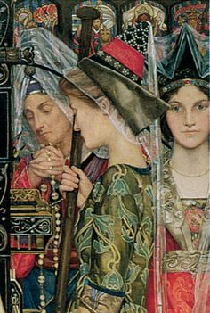 BUNCE, Kate Elizabeth English Pre-Raphaelite (1856-1927)_The Keepsake 1898-1901 detail1.jpg