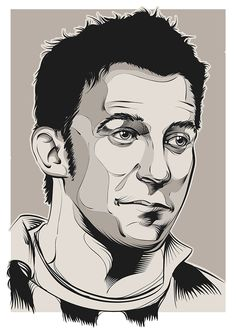 Footballer Alessandro Del Piero illustration #DelPiero #Football #juventus #vector #illustration