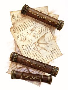 Scrolls. Could make these out of PVC and end caps?  And Mod Podge Faux Leather Brown Paper Bag onto the surface.  Ohhh, I need to try.