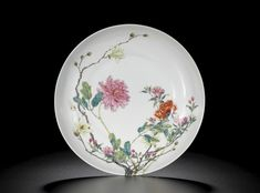 A RARE FAMILLE-ROSE 'FLOWER' DISH<br>SEAL MARK AND PERIOD OF QIANLONG | Lot | Sotheby's