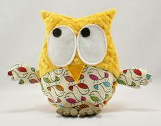 #birds #bird #minky #owl #littlesophie #mango Mango owl available on http://www.littlesophie.pl/pl/glowna/538-gustaw-w-ptaszki.html