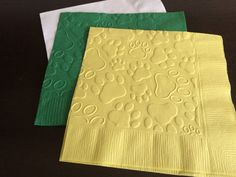 Paws Embossed Napkins - Set of 50  Add a special touch to your event with these…