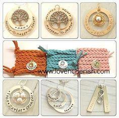 hand stamped jewellery, personalised jewellery