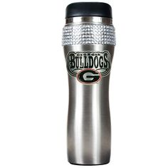 Great American Products Officially Licensed NCAA 14 oz. Stainless Steel Bling Travel Tumbler - Georgia Bulldogs