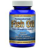 FISH OIL - Premium Pharmaceutical Grade OMEGA 3 Triple Strength ★ 100% MONEY BACK GUARANTEE ★ Formulated For Superior Results! by Young Life Research