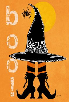NEW Toland - Boo Boots - Double Sided Halloween Witch Spider Garden Flag #TolandHomeGarden
