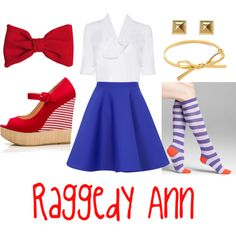 """Raggedy Ann Halloween Costume"" by lauren8applepie on Polyvore"