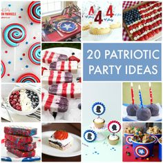20 Patriotic Party Ideas -- Tatertots and Jello