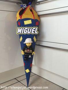 Schultuete Einschulung Junge Lego Feuerwehrmann Stampin Up Folia