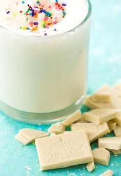 White Hot Chocolate - add some amaretto or Irish cream...yum.
