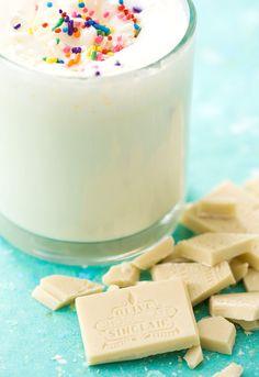 White Hot Chocolate - add some amaretto or Irish cream...yum.