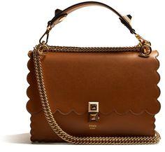 7715bdc4fe Fendi Kan I leather shoulder bag Backpack Bags