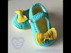 video tutorial de las zapatillas de bebe