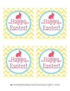 Free easter gift tag printable pdf 6 tags to a sheet simply download mommy by day crafter by night free printable happy easter tags negle Image collections