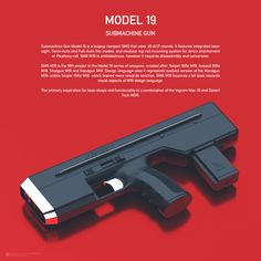 Sci Fi Weapons, Submachine Gun, 45 Acp, Picatinny Rail, Hand Guns, Model, Futurism, Tech, Concept
