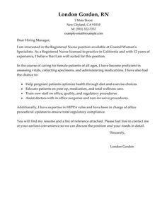 Registered Nurse Cover Letter Examples Resume Cover Letter Examples, Resume Cover Letter Template, Resume Objective Examples, Cover Letter Sample, Resume Examples, Letter Templates, Cover Letters, Resume Templates, Nursing Resume