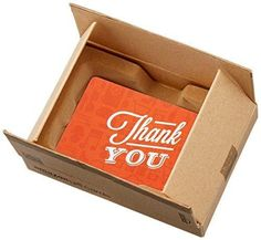 Amazon.com Gift Card for Any Amount in a Mini Amazon Shipping Box (Thank You Icons Card Design)