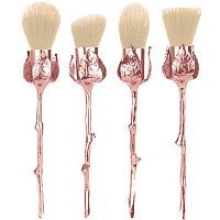 Storybook Cosmetics Limited Edition Rose Cosmetic Brushes is a set of four rose gold rose brushes that have stunning cream cruelty-free synthetic bristles and gorgeously rose gold rose stem metal alloy handles. They arrive in a custom rose pouch. It Cosmetics Brushes, Makeup Brushes, Cosmetic Brushes, Nyx Brushes, Face Brushes, Cute Makeup, Makeup Looks, Beauty Nails, Beauty Makeup