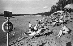 Пляж на берегу Московского канала, 1955 - 1960, г. Москва